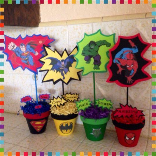 Best 25+ Superhero centerpiece ideas on Pinterest _ Super ___