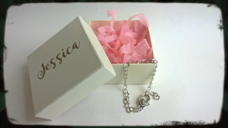 Personalised Stirling Silver Bracelet with Heart Clasp
