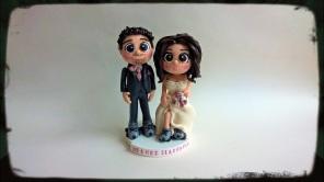 Roller Skates Wedding Couple