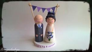 Purple Theme Classic Bride and Groom