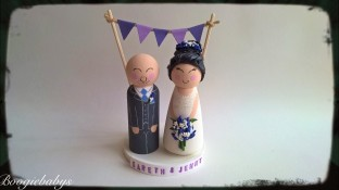 Purple Theme Classic Bride and Groom