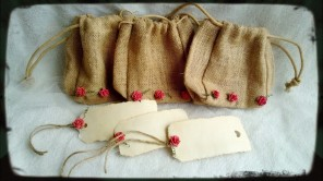Hessian Jute Gift Bags great for filling with goodies.