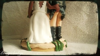 Cheeky Hand up Kilt Wedding Toppers