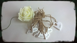 Custom Clay Mini Cute HEart Gift Tags
