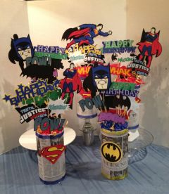 Super Hero centerpiece _ _MY_ 3D, Banners, Gifts, Crafts ___