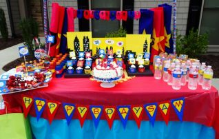 Superhero Table Decoration _ Party - Kids Party - Baby ___