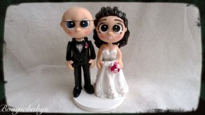 Bald Groom and Classic Bride