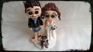 WeddingTopperGoldHobbitsfeet