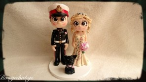 Military Groom and Artist Bride