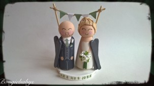 Wooden Sage Skiing Theme Cake Toppers
