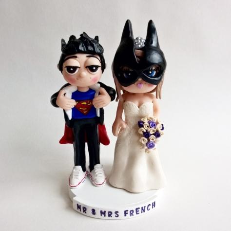 Superman groom & batgirl bride
