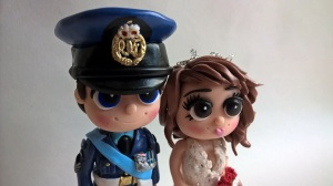 Armed forces RAF groom on a cake. Armed services Navy Groom Bride Cake Wedding