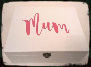 Large Wooden Mum Box