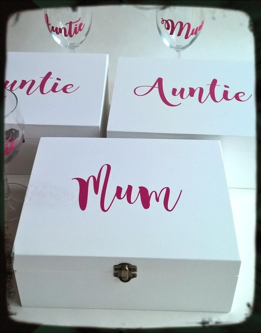 Personalised Sister Auntie Gift Memory Keepsake Box