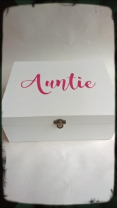 Personalised Sister Aunt Mum Dad Gift Memory Keepsake Box