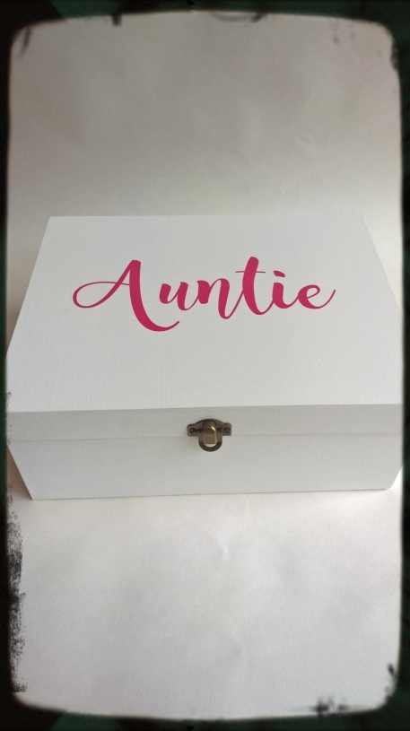 Personalised Sister Aunt Mum Dad Gift Memory Keepsake Box